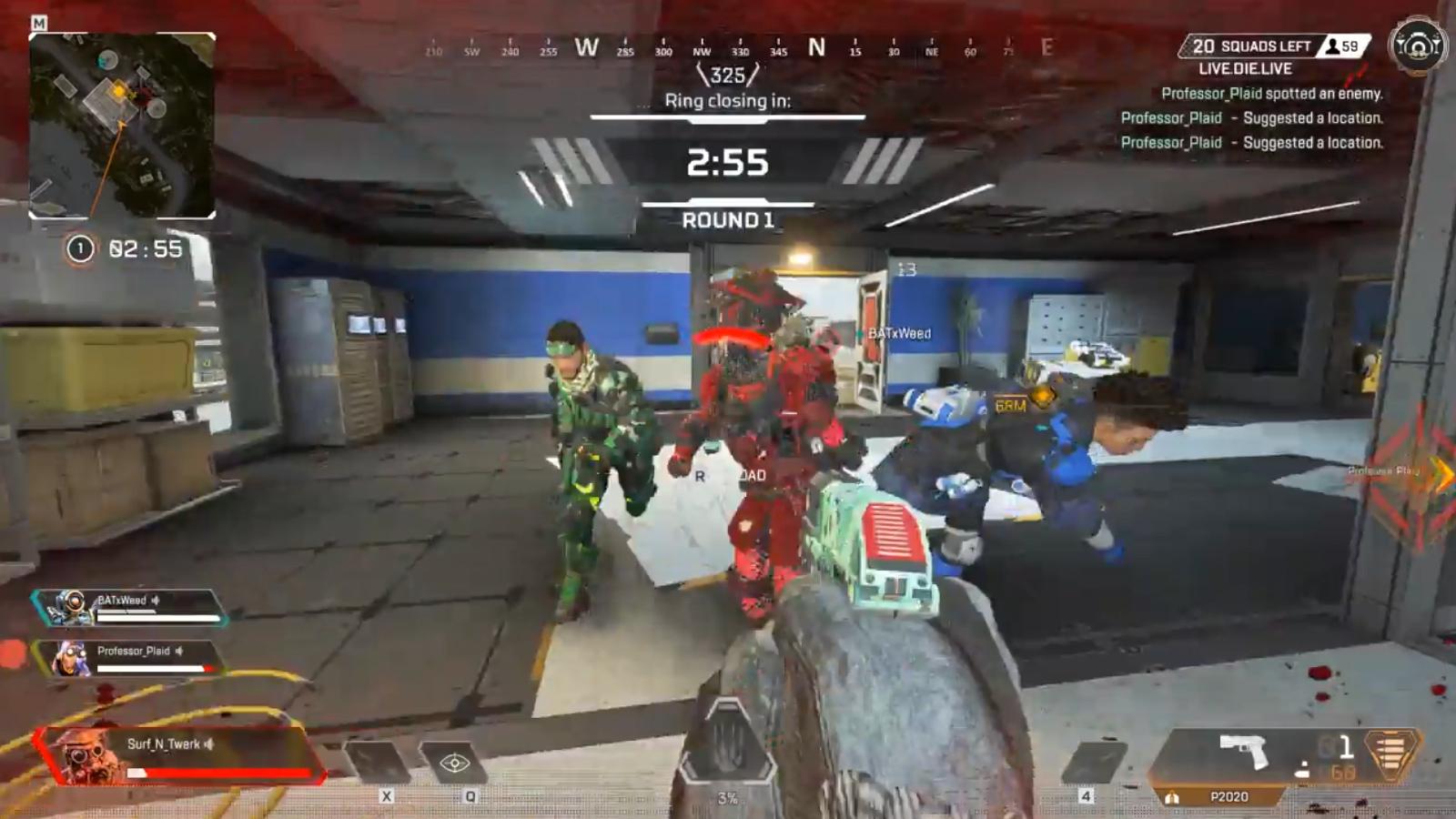 【瞬殺ww】開幕降り直後に敵部隊3人からボコボコにされるブラッドハウンドwww