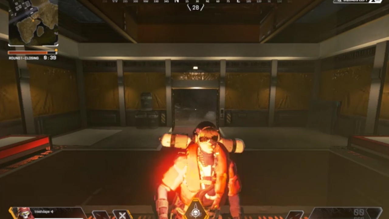 保管庫の隠し要素に溶け込むレヴナントとそれを見た敵部隊の反応