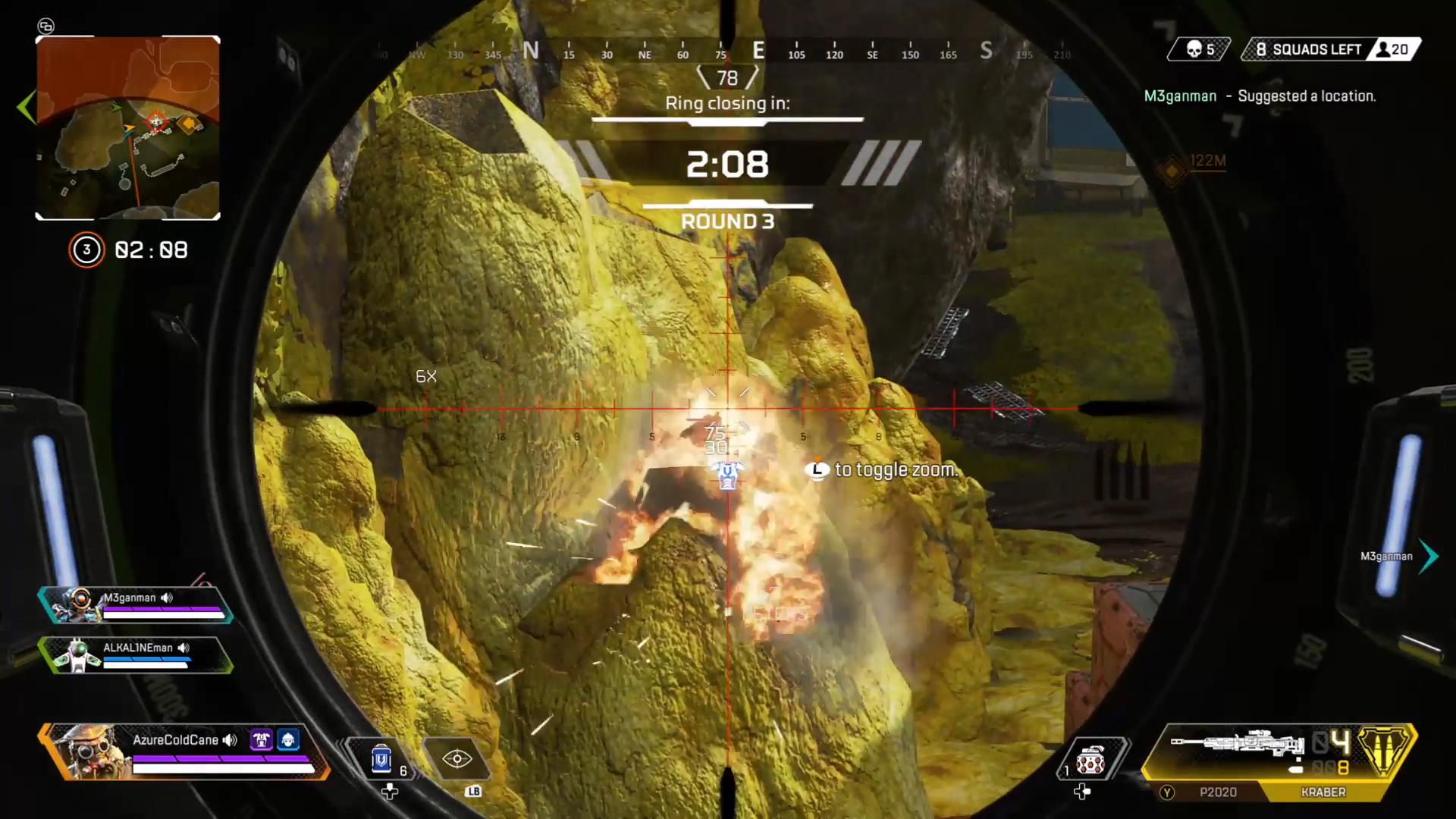 【APEX】岩の中に潜んでいる敵の倒し方が面白すぎるwww