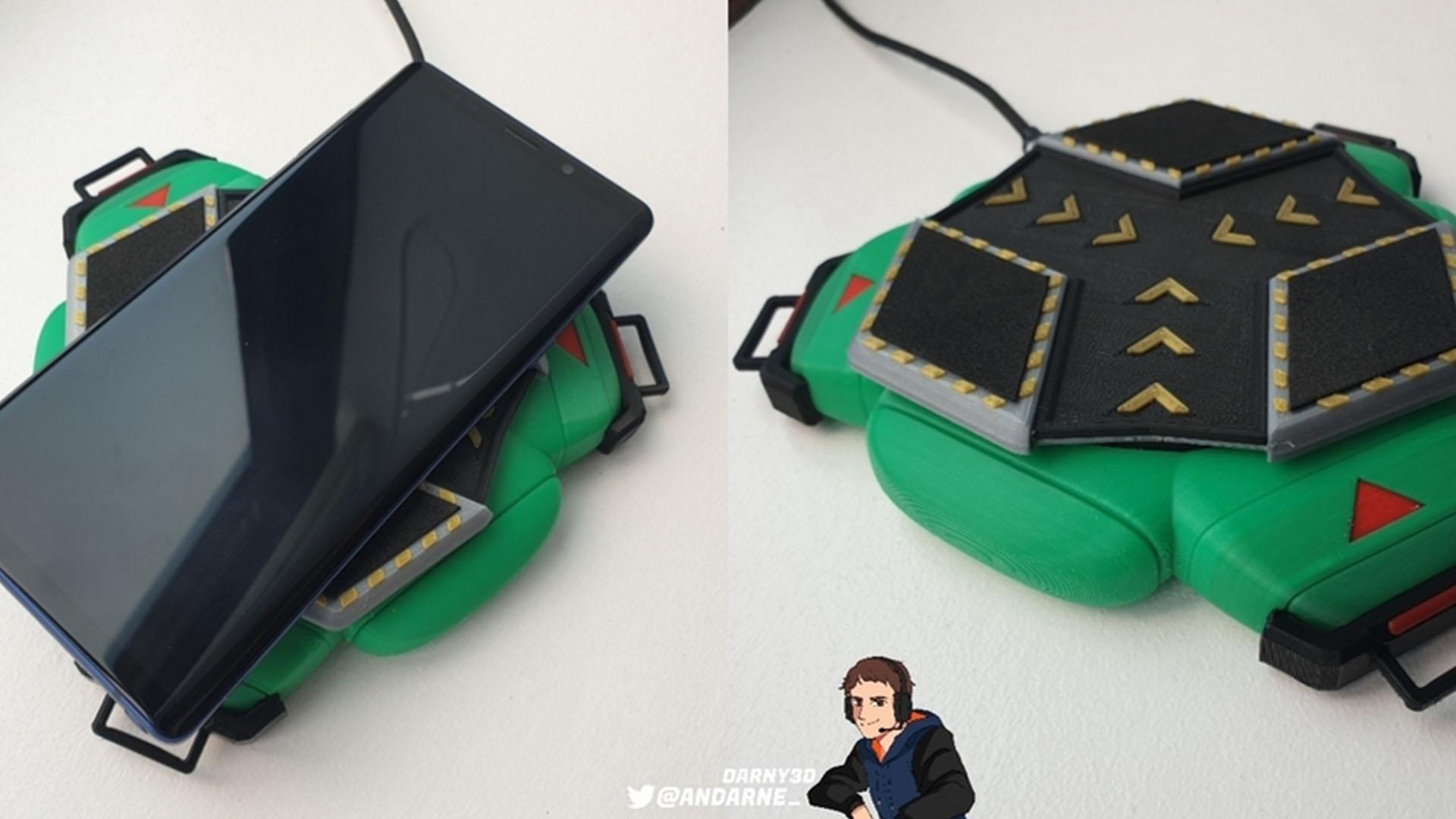 【欲しい】自作でオクタンのジャンプパッド型の無接点充電器を作るファン現る!!