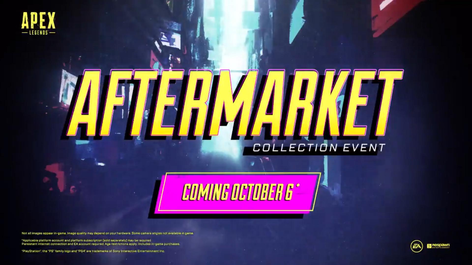 【速報】APEX公式より次のコレクションイベント「アフターマーケット」が発表!!日本時間10月7日よりスタート