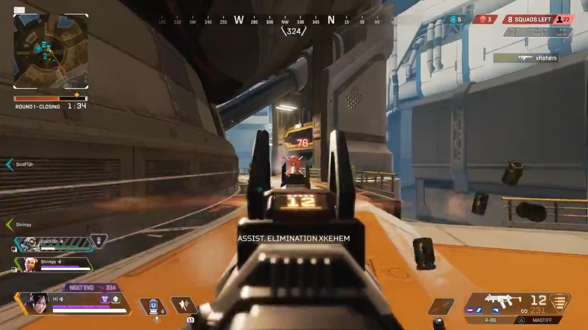 【APEX】コントローラーにやられた後にコントローラーで暴れまくる動画