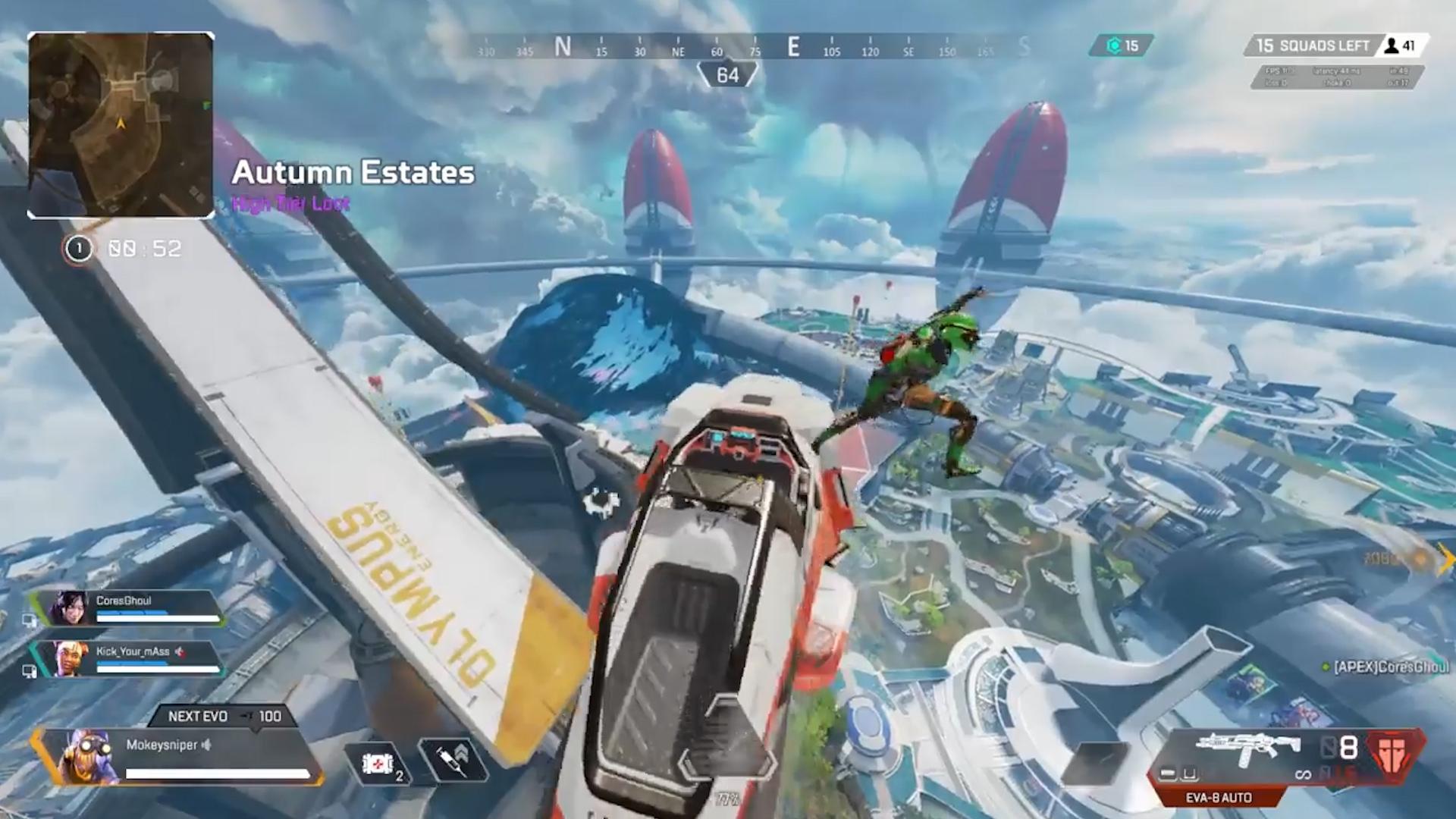 【APEX】トライデントぶっ飛びバグを使ったオクタンの悲劇
