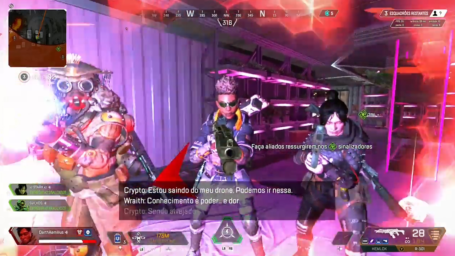 【APEX】ドローン操作から戻ると3人から銃を突きつけられていたクリプト