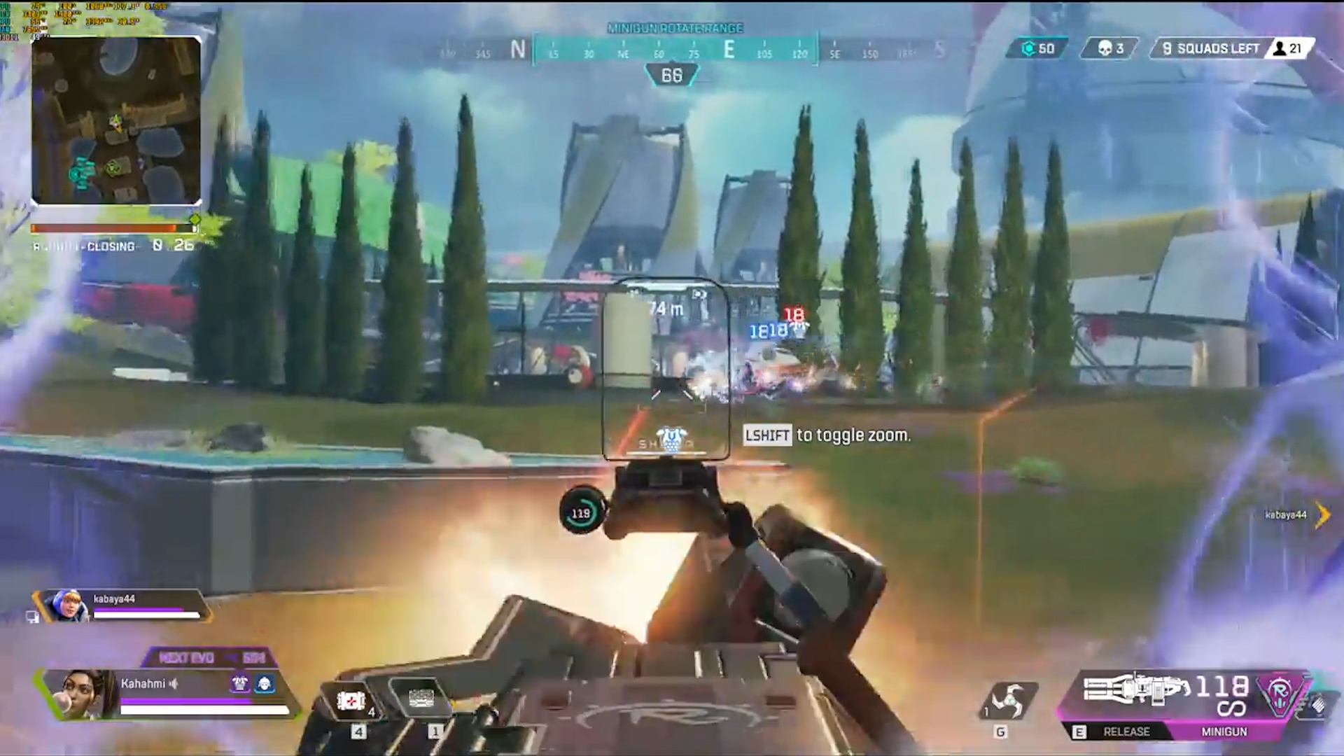 【APEX】トライデントに乗り込んだ3人をランパートのミニガンで瞬殺する動画