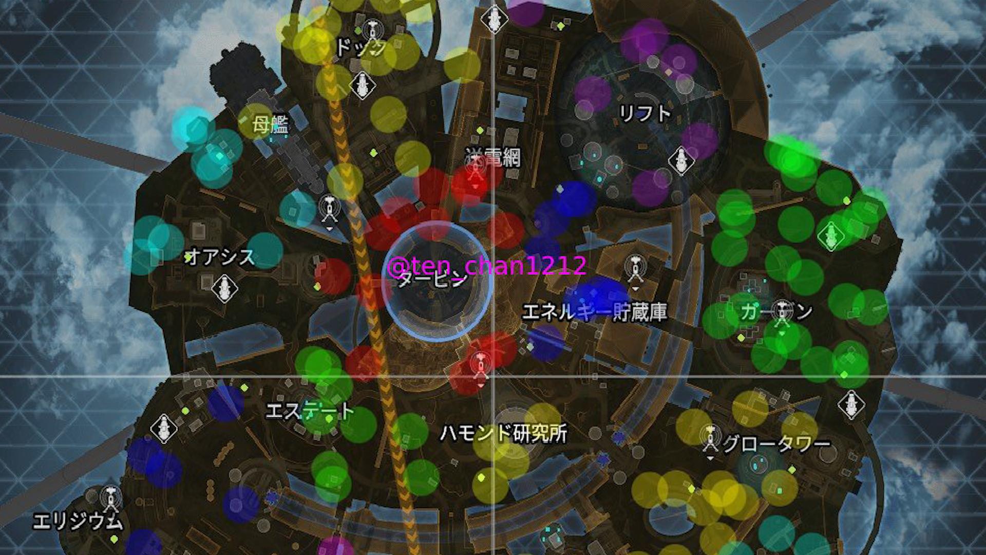 【APEX】新マップ「オリンパス」の終盤サークルパターンを177箇所まとめた画像がコチラ!!