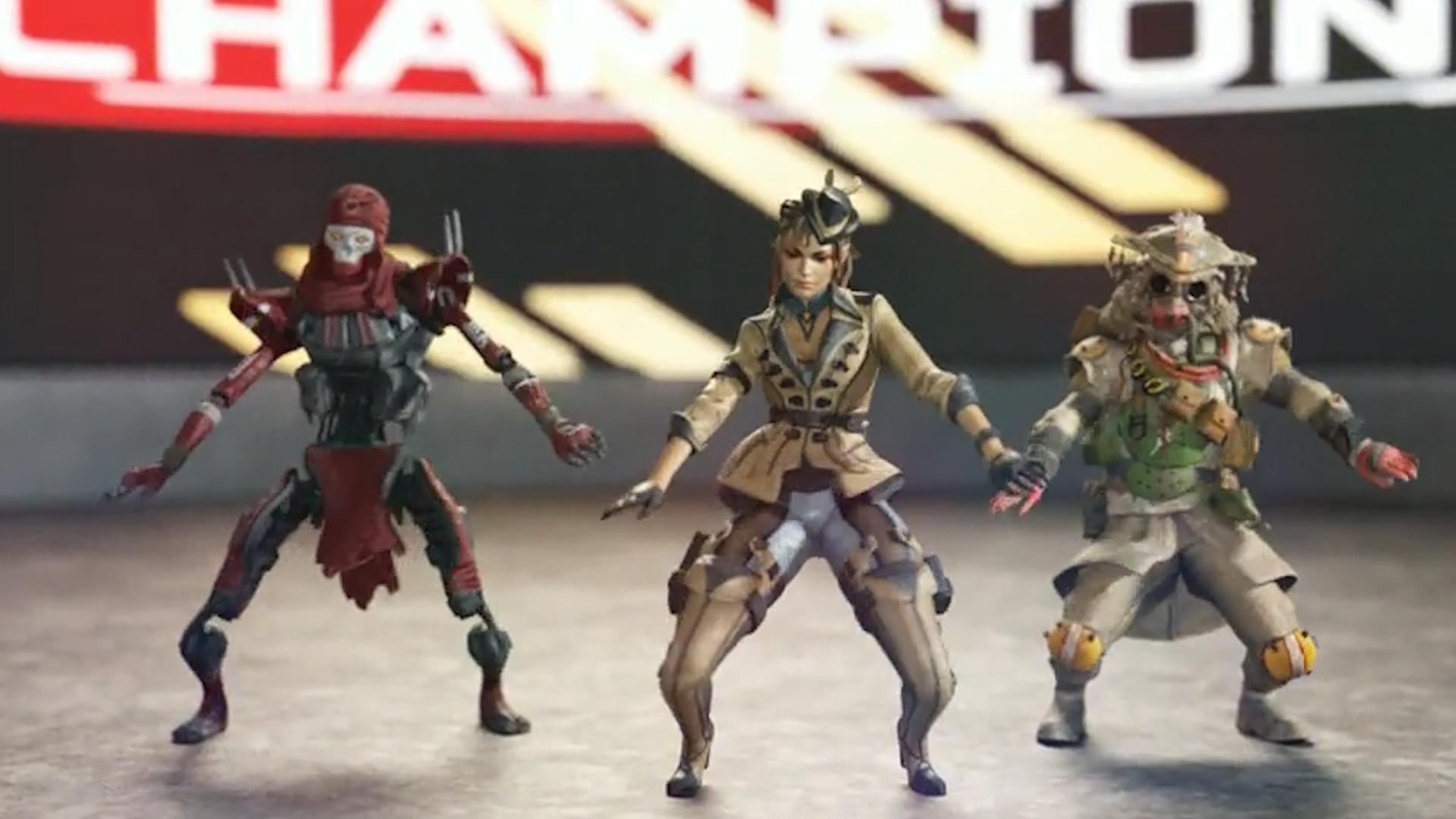 APEXファン「レヴナント、ローバ、ブラッドハウンドの3Dモデルでダンスをさせてみた」