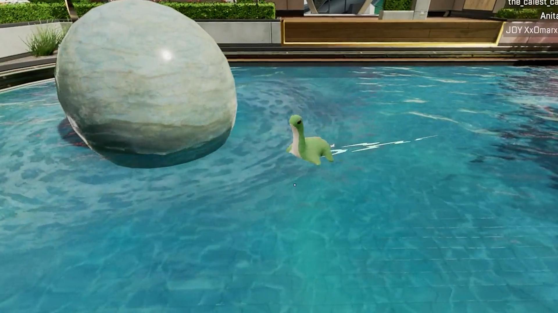 【癒やし】APEXファン「ネッシーを泳がせてみたよ」