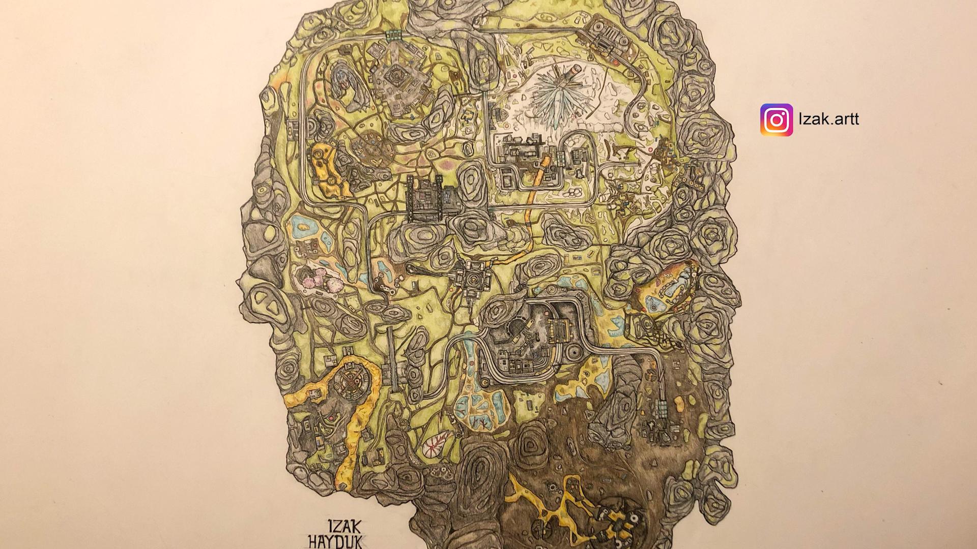 【APEX】ワールズエッジのマップを手描きするファン現る!?