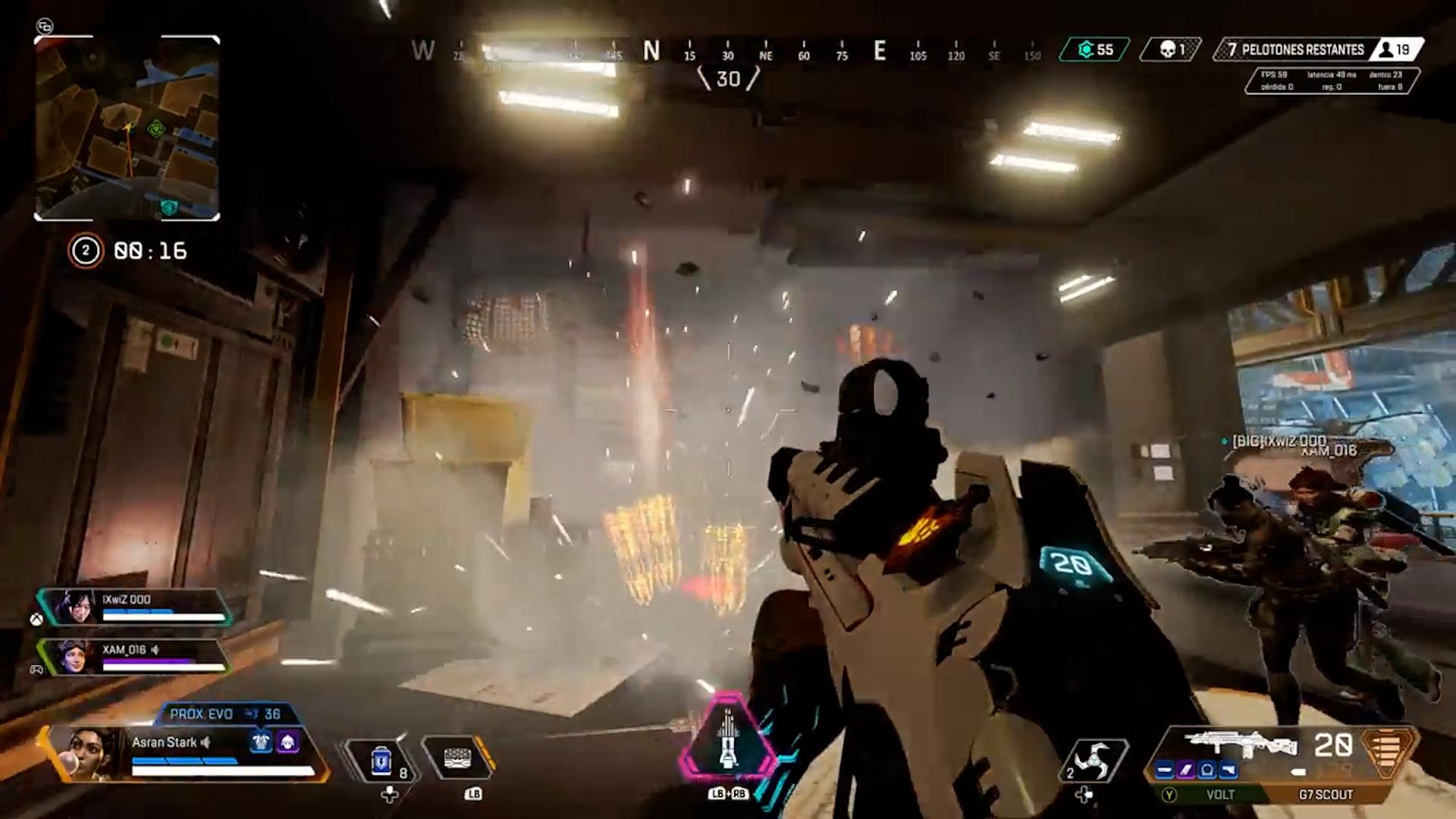 【APEXバグ動画】バンガロールのアルティメットが室内の上から大量に降ってくるバグ映像