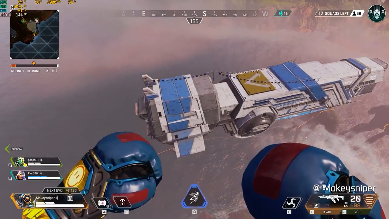 【APEX】バグを使って上空にある船を近くで見る方法