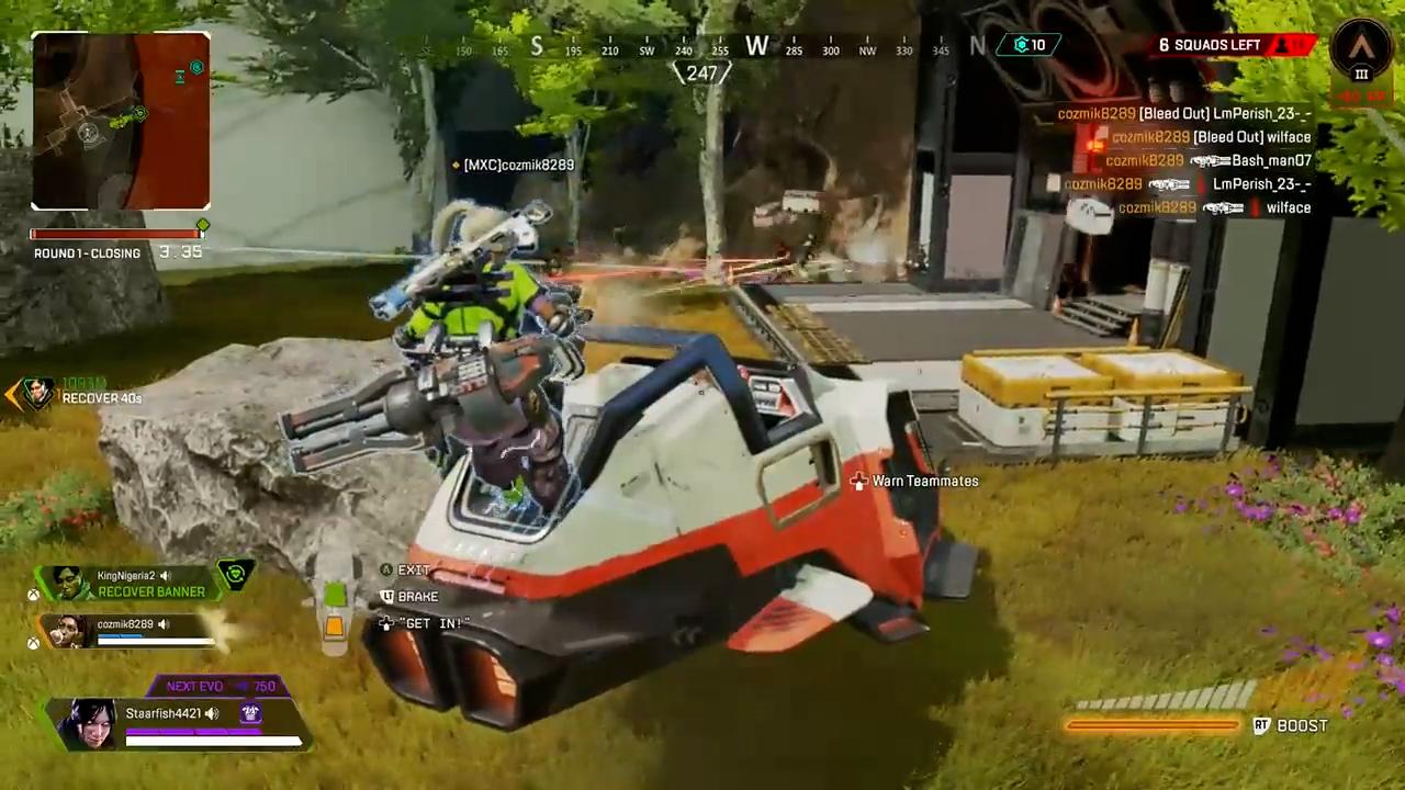 【APEX】ランパートがトライデントに乗りながらドライブキルする動画