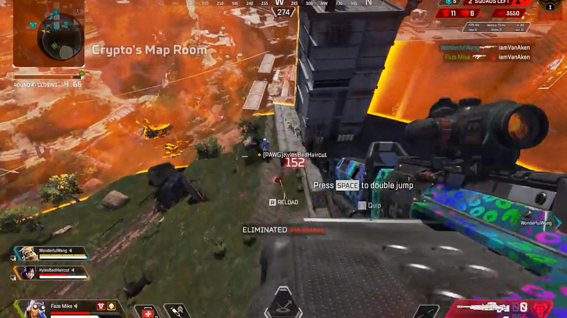 【APEX】空中の腰撃ちクレーバーを当ててチャンピオンになるオクタン部隊