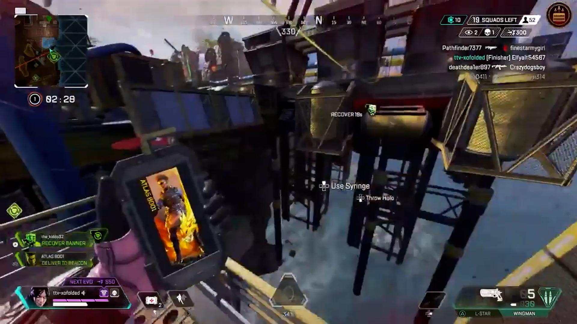 【APEX】多くのプレイヤーが1度は経験している「バナー回収ジップライン」事故映像