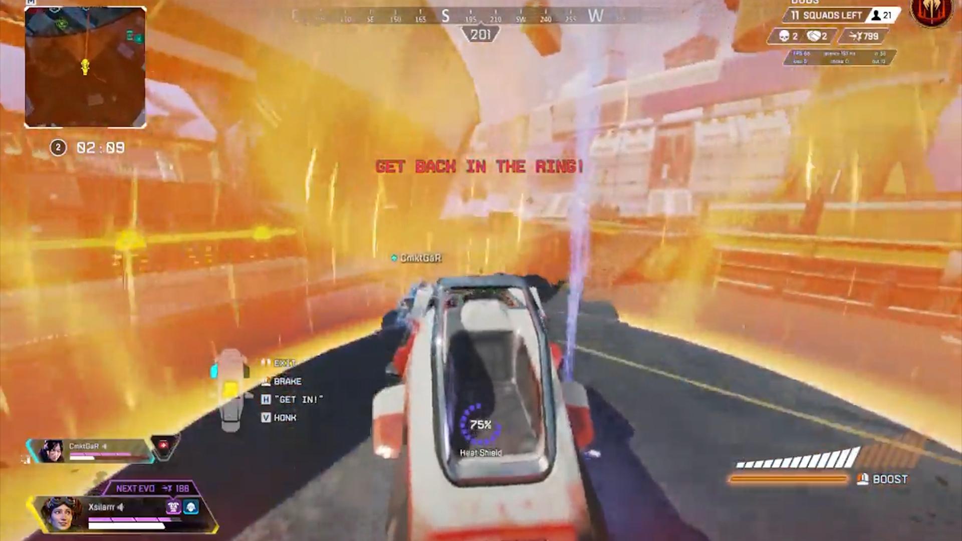 【APEX小ネタ】ヒートシールドもトライデントに乗せて移動ができる