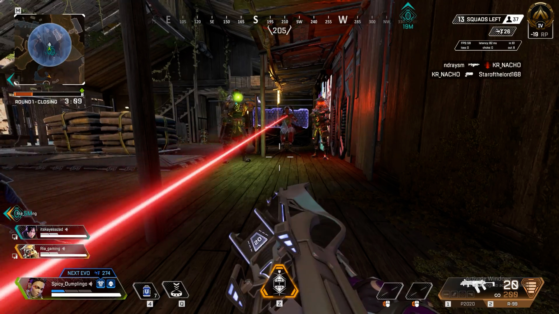 【APEX】逃げポータルを使って駆け込んだ建物に敵部隊3人が待ち構えていた時