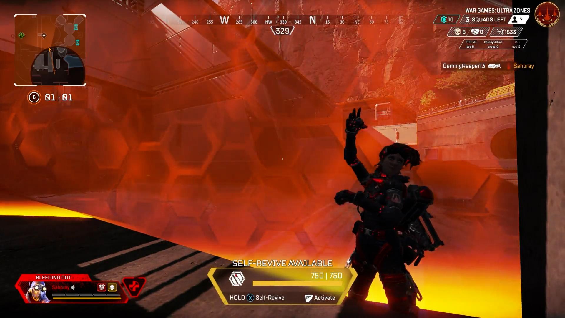 【APEX】グレネードで上にいる敵にプレッシャーをかけたかったホライゾンさん