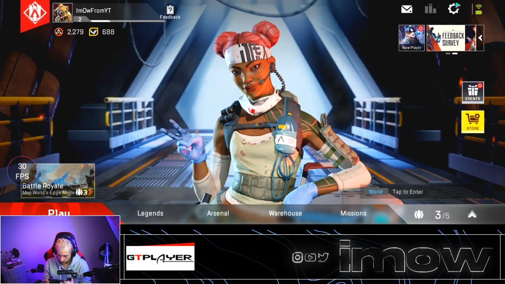 【APEX】モバイル版のエーペックスのゲームプレイ生放送動画→移動時は「3人称視点」でエイム時に「1人称視点」に切り替わる模様!
