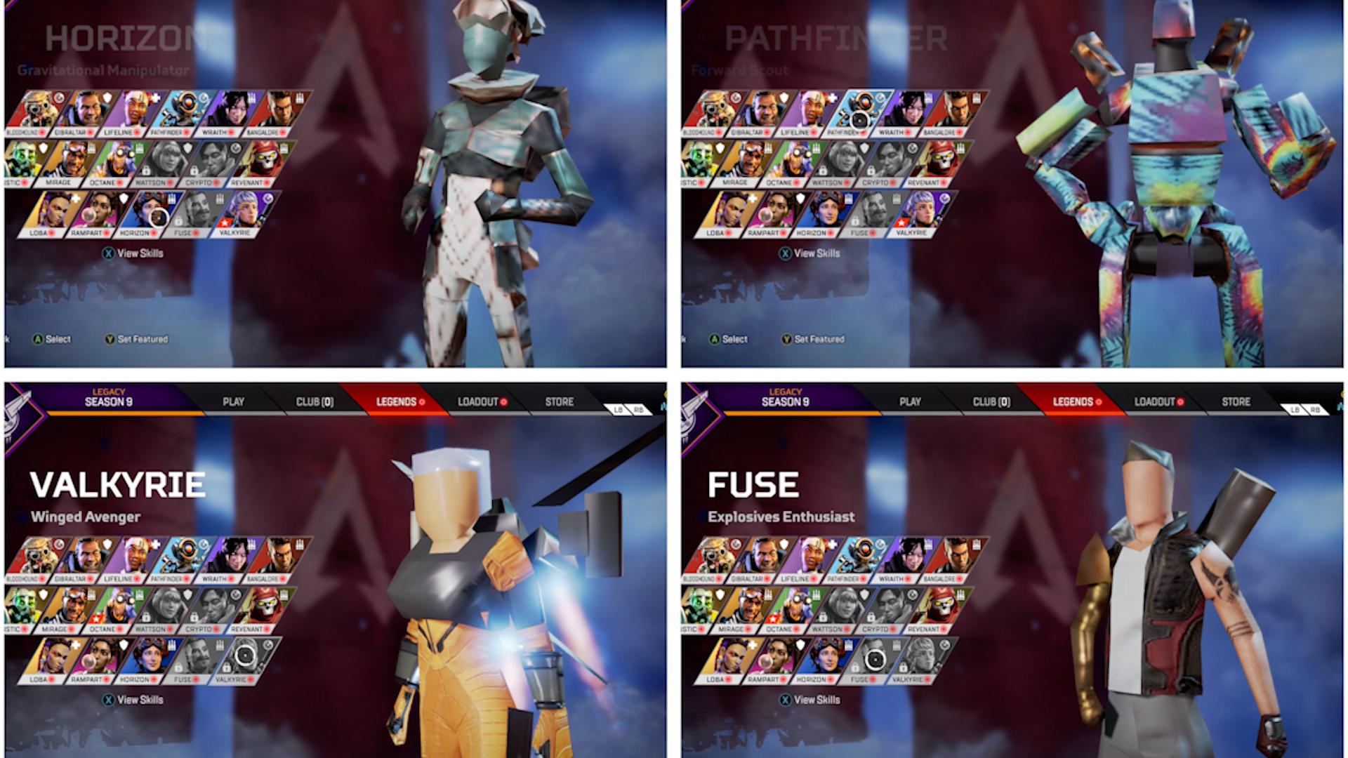 【APEX】シーズン9のおもしろバグ「キャラクターブロック化」