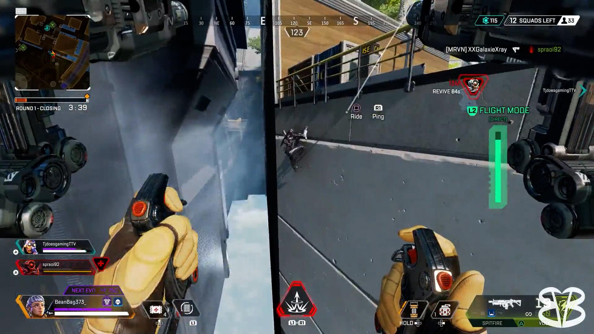 【APEX】ジップラインを使う敵を全員落とすヴァルキリーが楽しそうwww