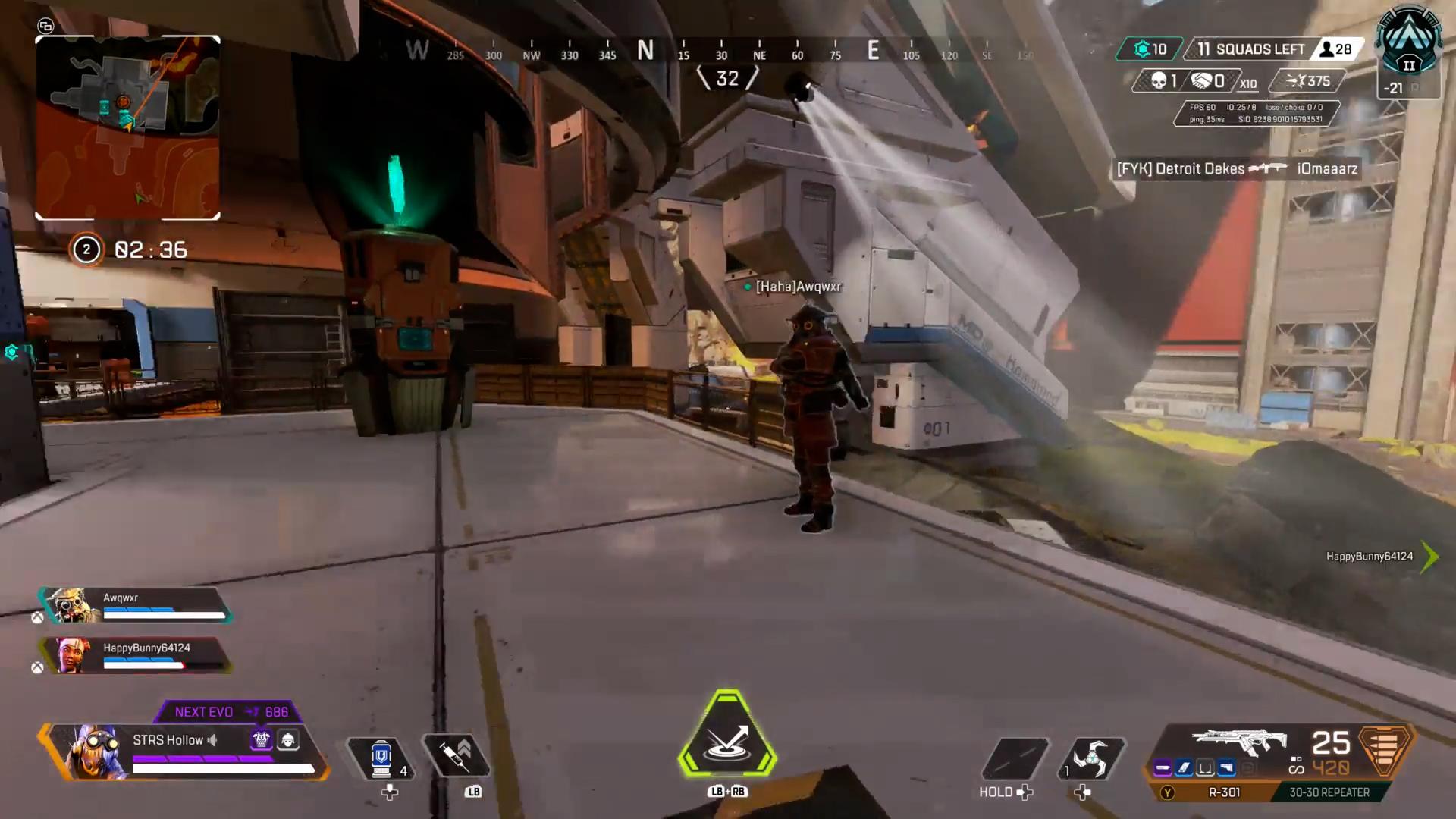 APEXプレイヤー「味方のブラッドハウンドに壁ジャンプを教えてみた」→お互いのリアクションが可愛いww
