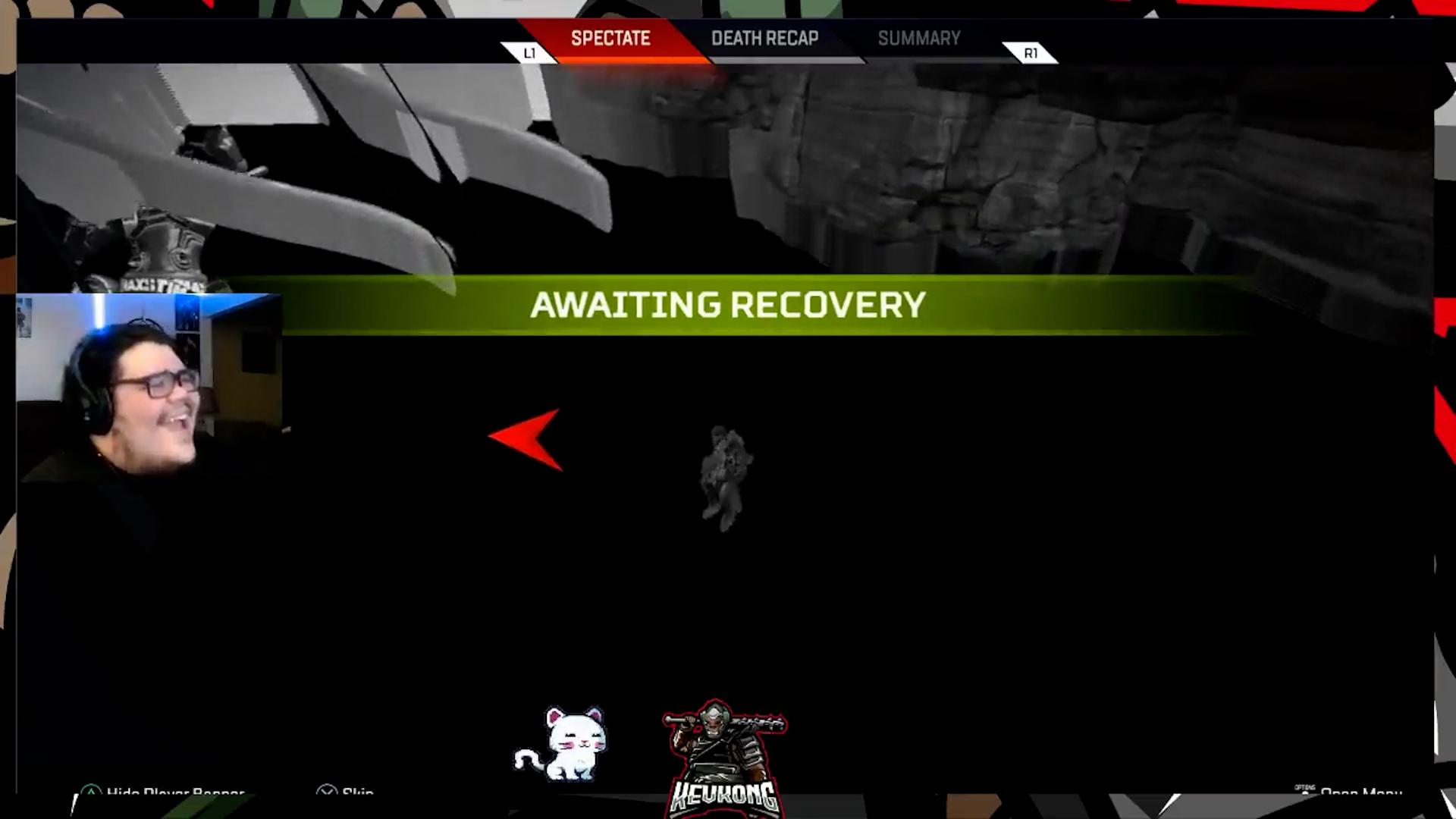 【APEXコント】開幕サプライシップに弾かれてマップ外に落ちる→バナー回収しようとしたチームメイトも落ちる