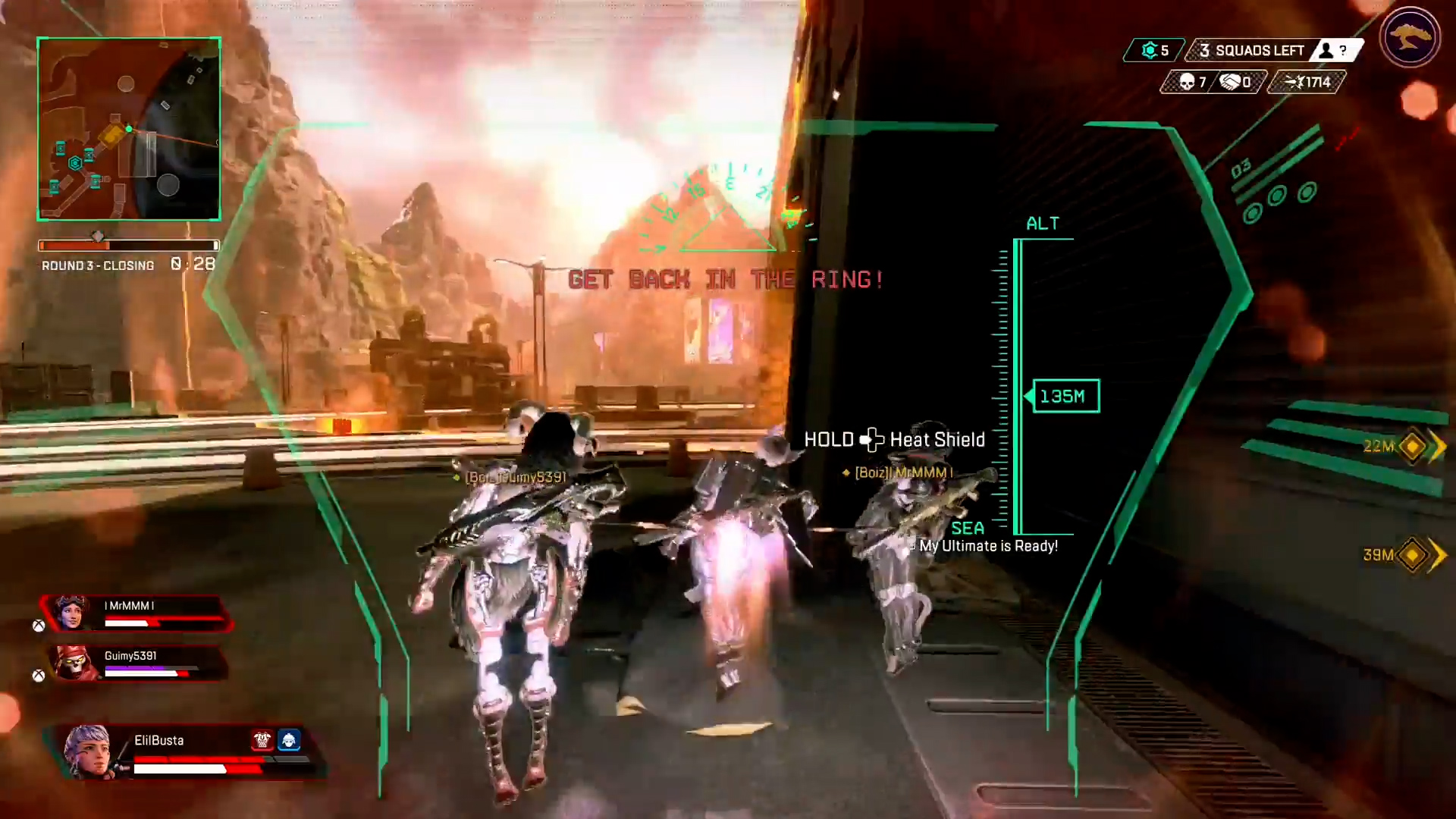 【APEX】こんな部隊壊滅は嫌だ「ヴァルキリーのアルティメットバグでリングダメージ死」