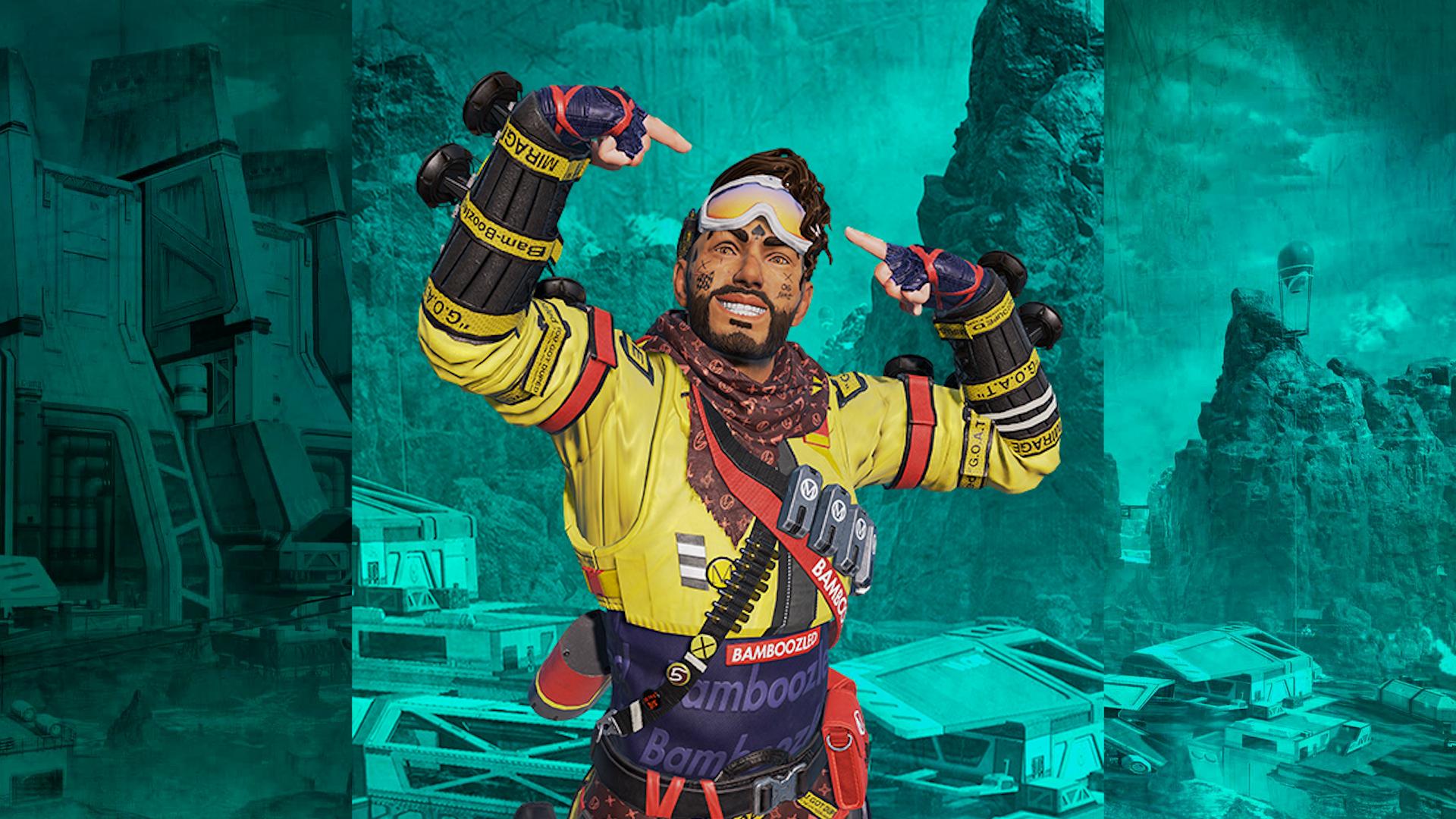 【APEX】『ミラージュ』のPrime Gaming限定スキンが登場!!「ゲーム内の見た目」や「入手方法」など
